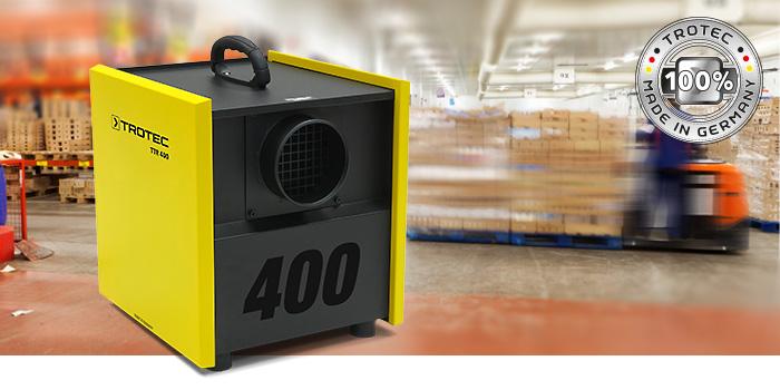 Применение осушителя воздуха Trotec TTR 400