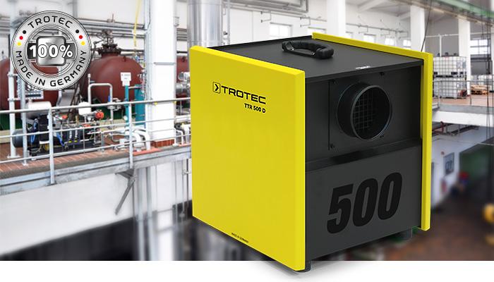 Применение осушителя воздуха Trotec TTR 500 D