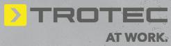 логотип Trotec.  At work